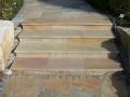 Quarzit gelb Treppe aus Foramatplatten
