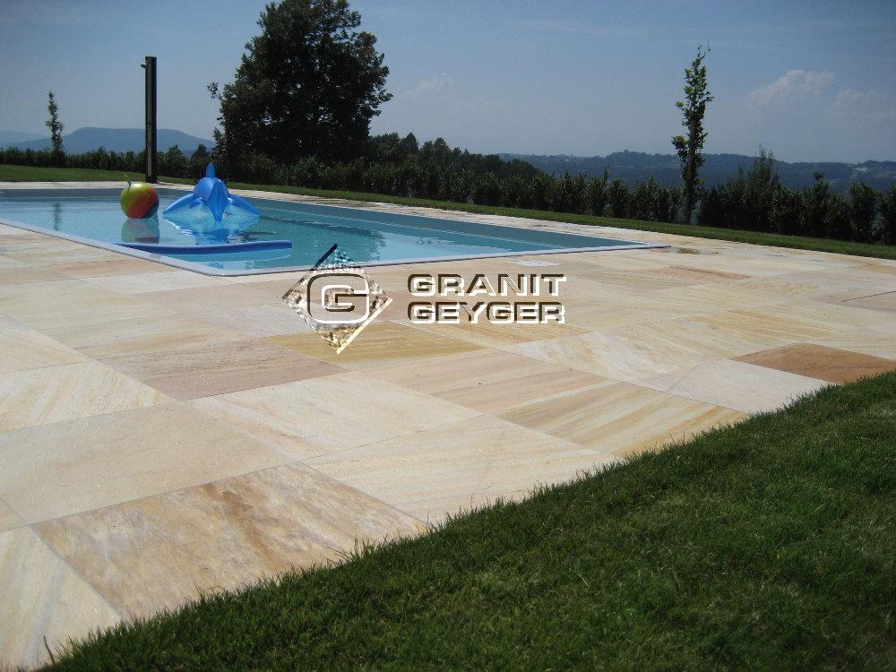 Quarzit Gelb Granit Geyger
