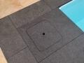 Basalt Black freitragende Schachtabdeckung Skimmeroeffnung