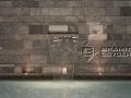 Quarzit Wand mit Tan brown Beckenrand
