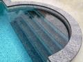 Treppenstufen unter Wasser