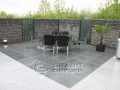 Terrassenbelag aus Anthrazit mit Silver Grey kombiniert